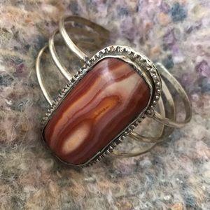 Jewelry - Funky hand made agate cuff